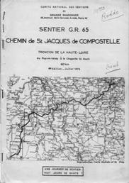 the first topo-guide of the  first chemin de Compostelle